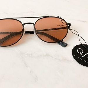 Quay Australia Tinted Aviator Sunglasses